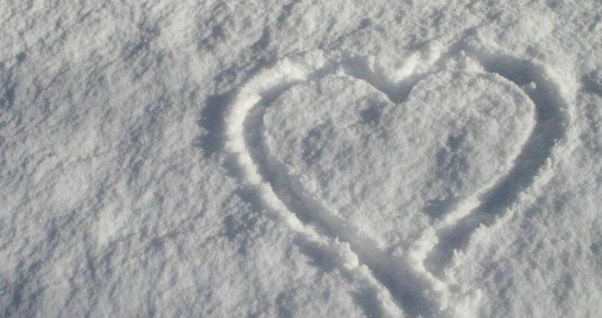 snow in valentines