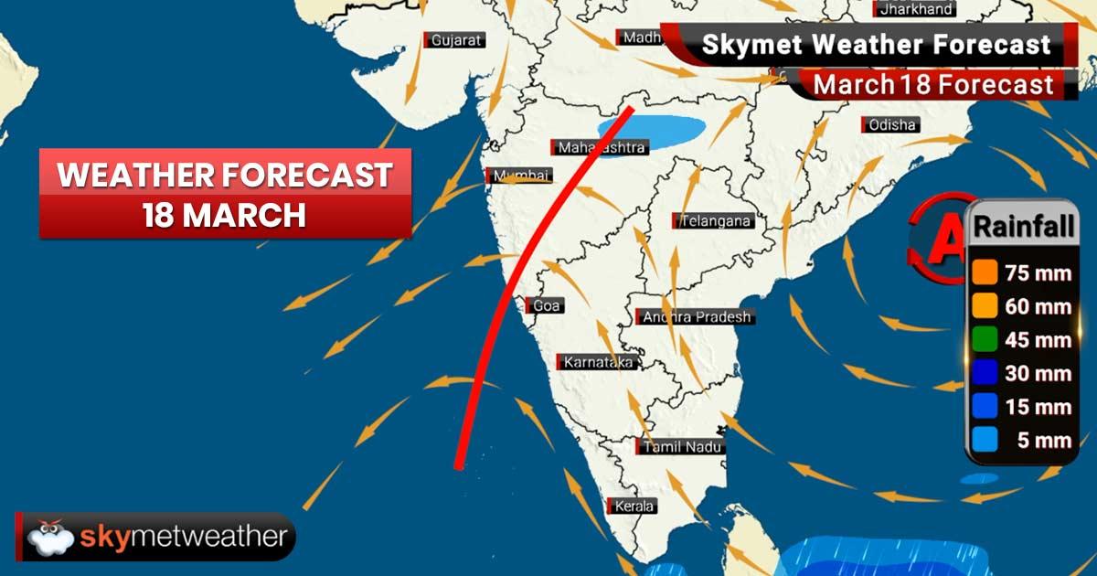 Weather Forecast for Mar 18: Rains ahead for Maharashtra, Madhya Pradesh, Kerala