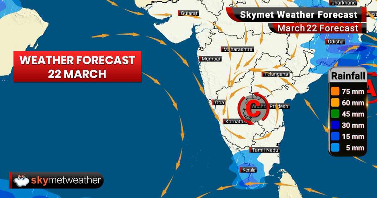 Weather Forecast for Mar 22: Rains ahead for Kerala, Karnataka, West Bengal