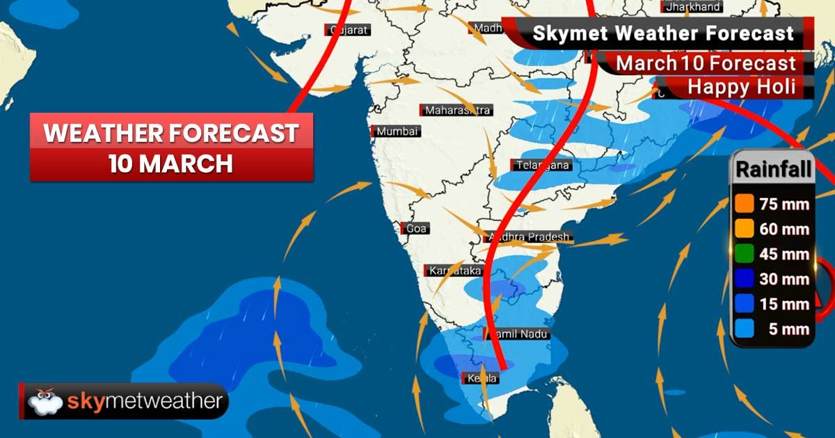 Weather Forecast for Mar 10: Rains ahead for Odisha, Andhra Pradesh and Telangana