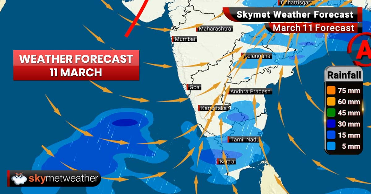 Weather Forecast for Mar 11: Rains in Rajasthan, Delhi, Haryana, Uttar Pradesh, Punjab