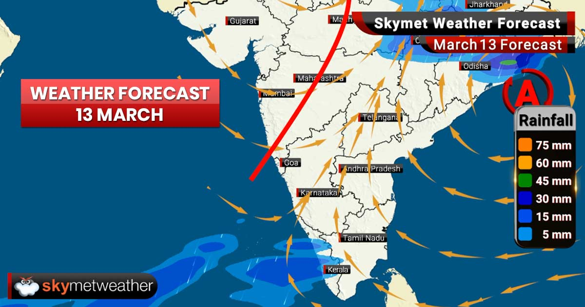 Weather Forecast for Mar 13: Heavy rains forecast for Punjab, Haryana and West Uttar Pradesh
