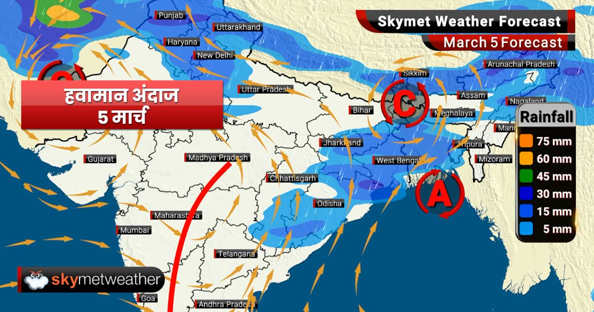 Weather Forecast Mar 5: Rain with hailstorm likely in Vidarbha