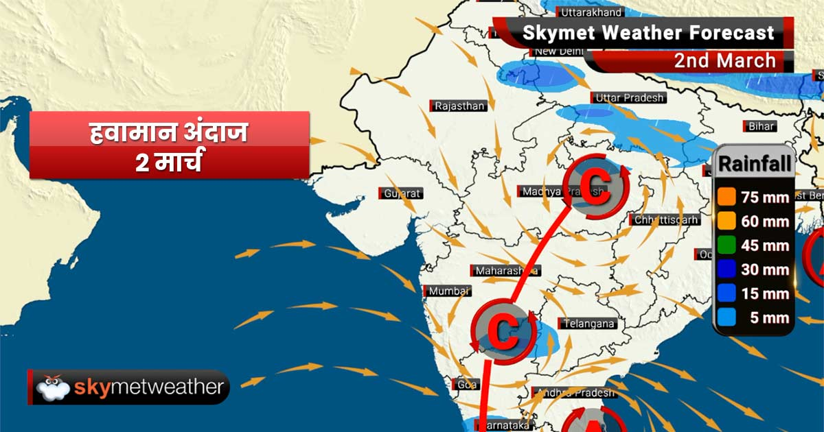 Weather Forecast Mar 2: Rain likely in Kashmir, dry weather in Mumbai