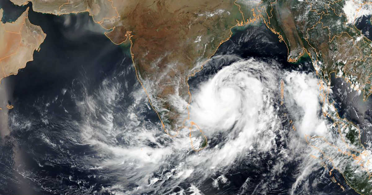 Cyclone in North Indian Ocean