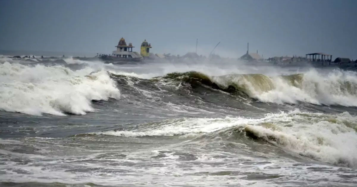 Cyclone in Bay of Bengal