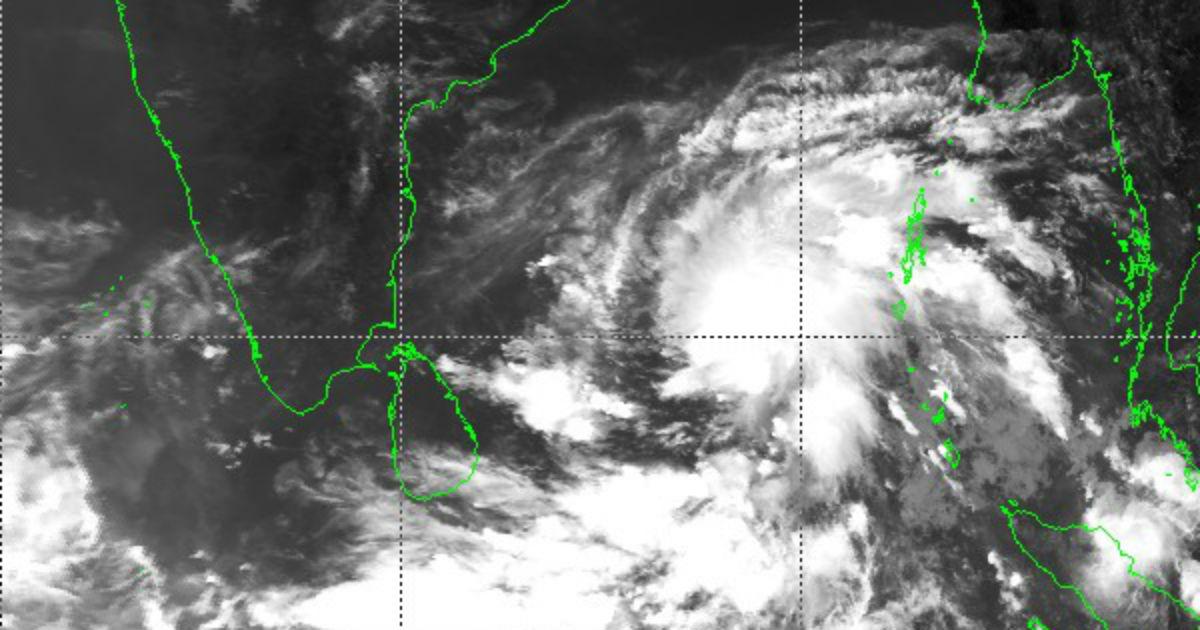 Cyclone Amphan track