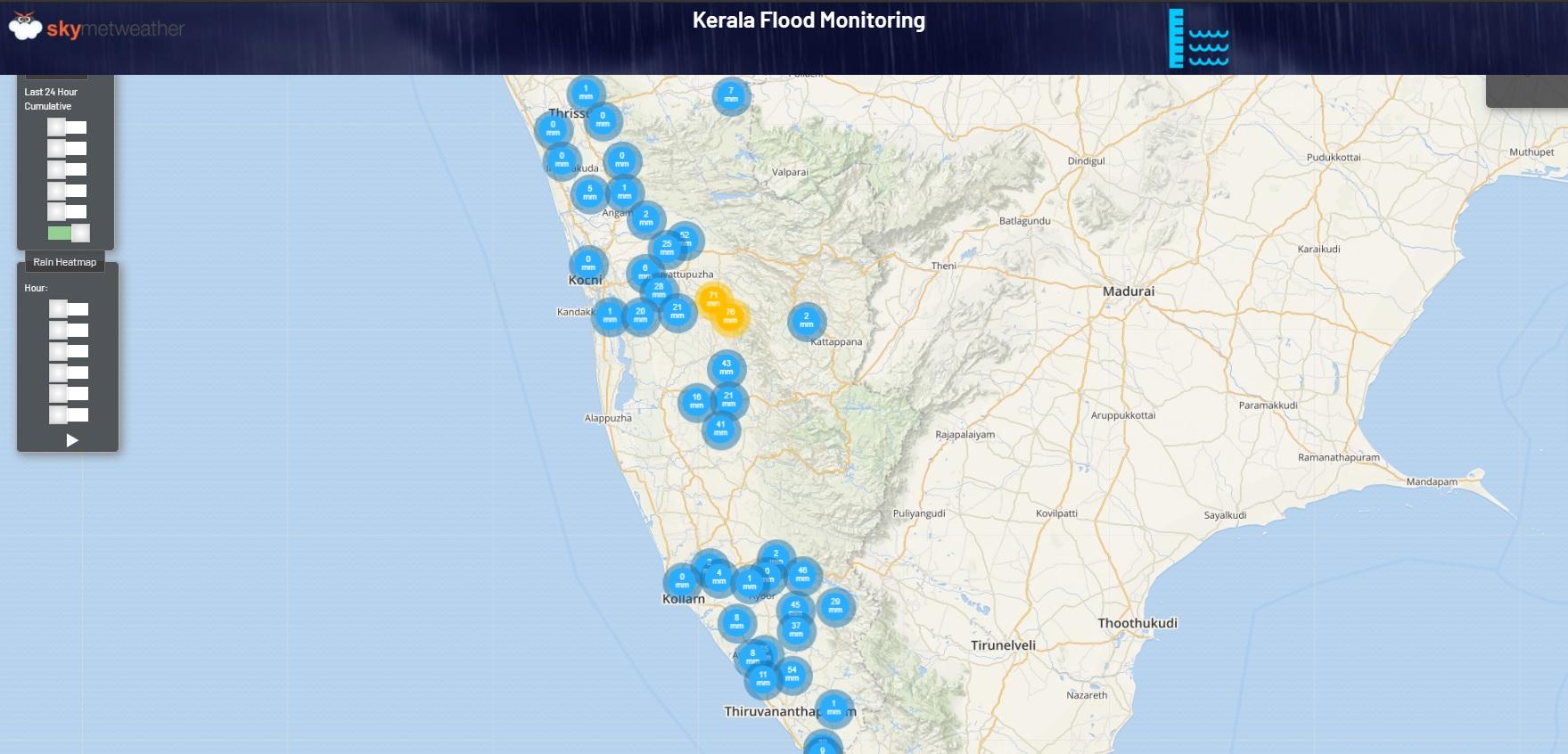 Kerala Rainfall recorded on May 29