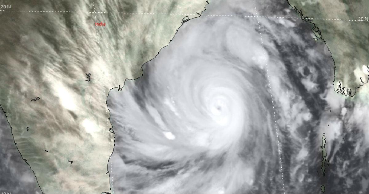 Super Cyclone Amphan Track