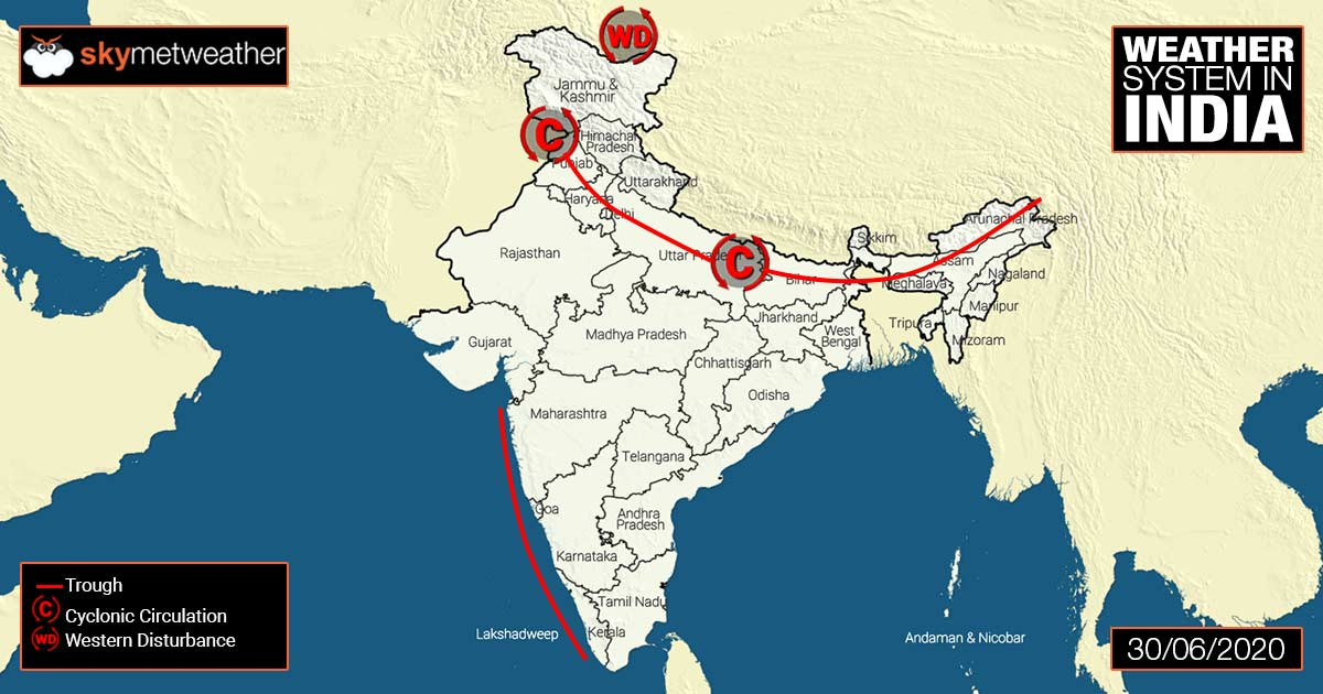 Weather update and forecast for July 1 across India