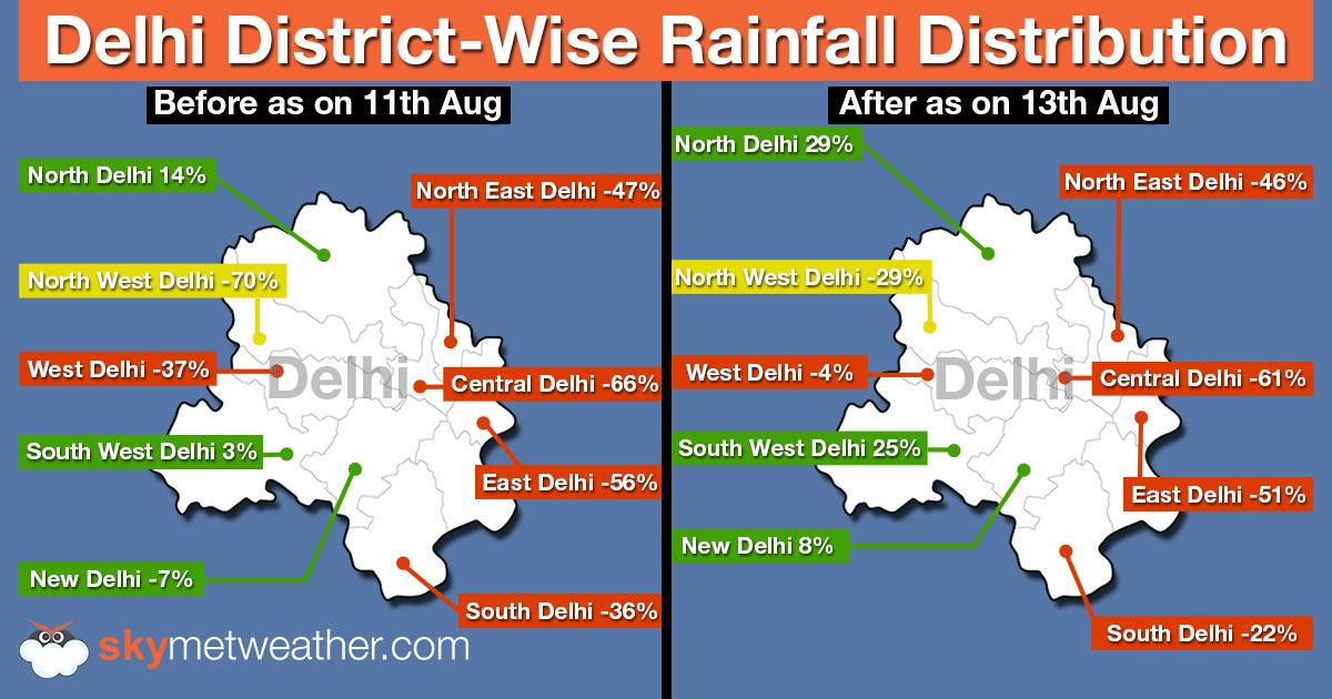 Delhi Rainfall Map