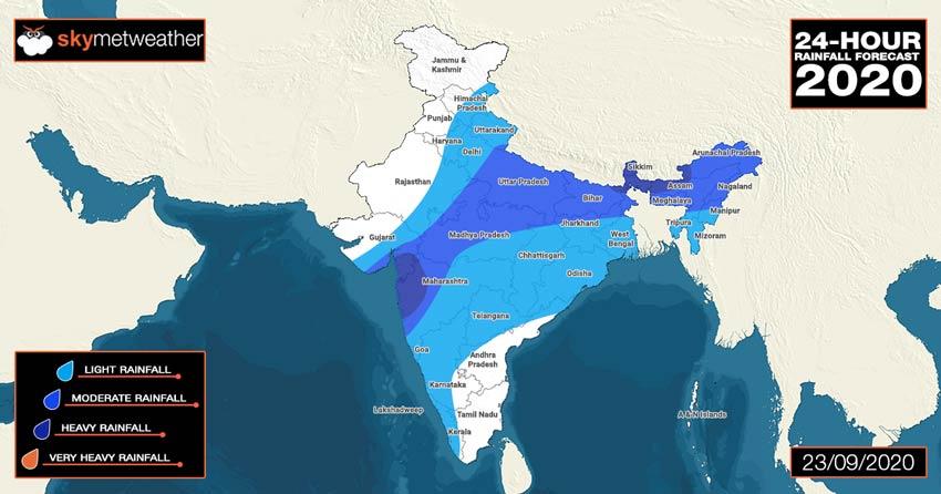 Monsoon rain update and forecast