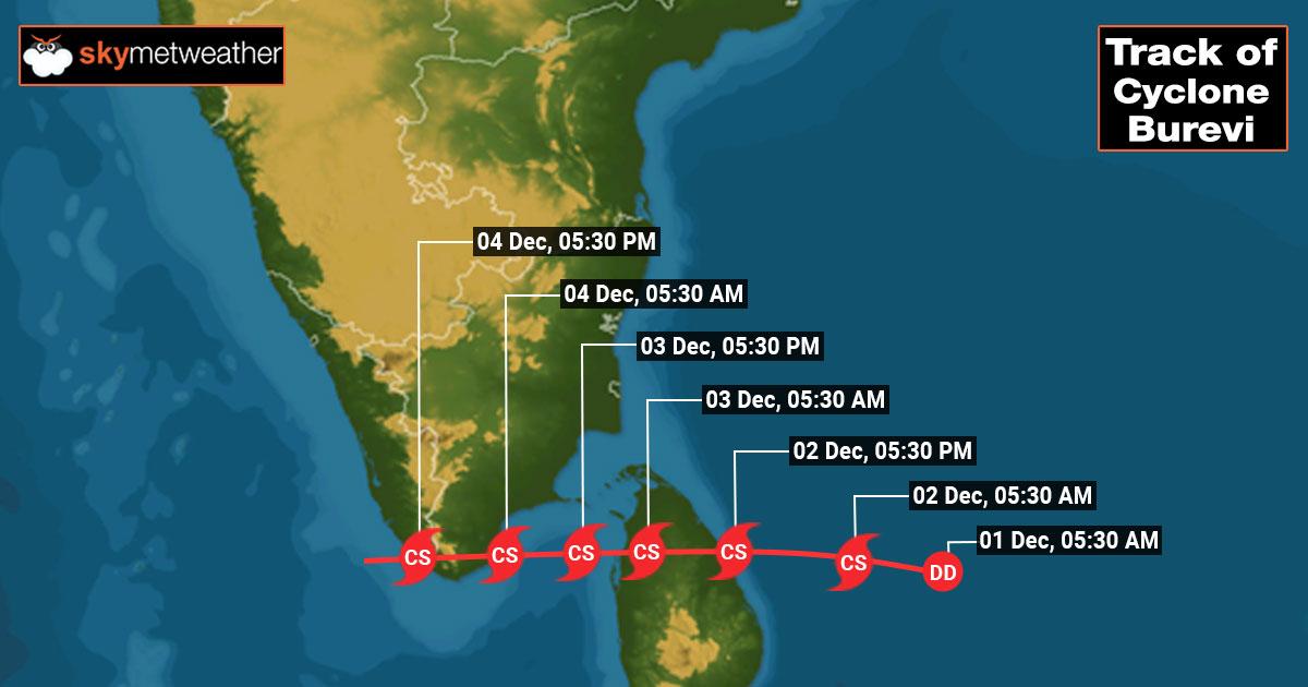 Cyclone Burevi live