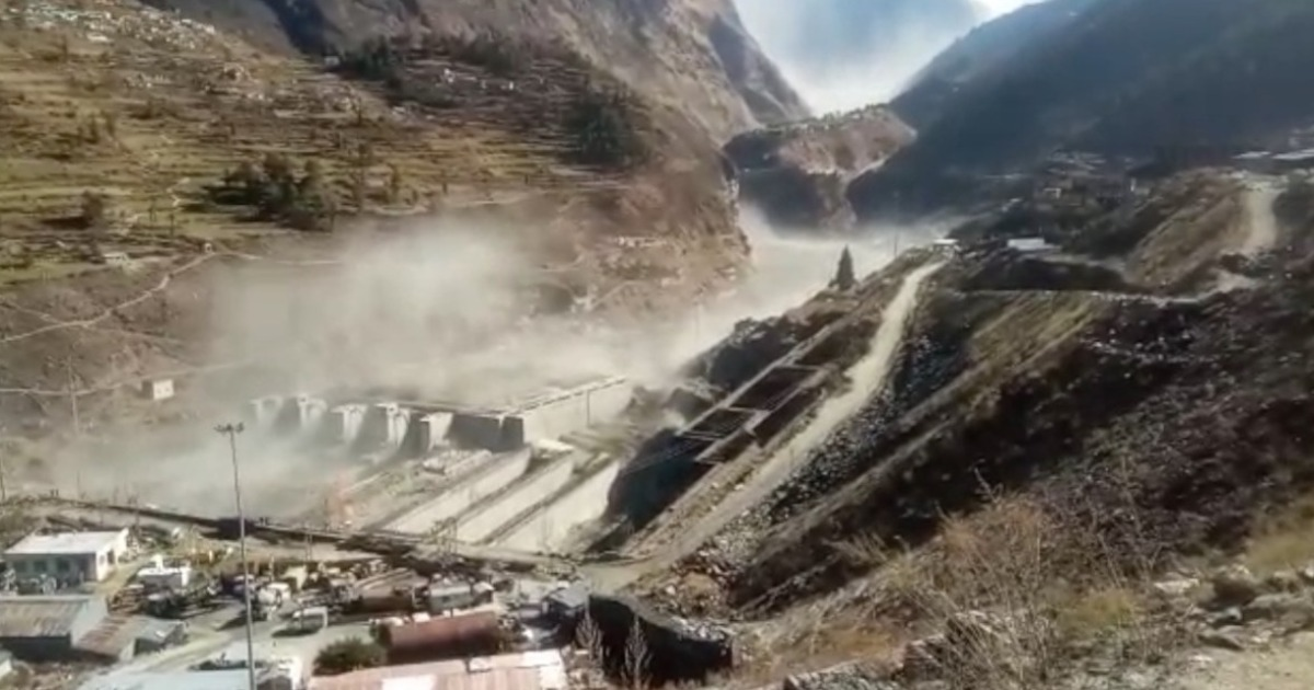 glacier breaks off at Uttarakhand Joshimath