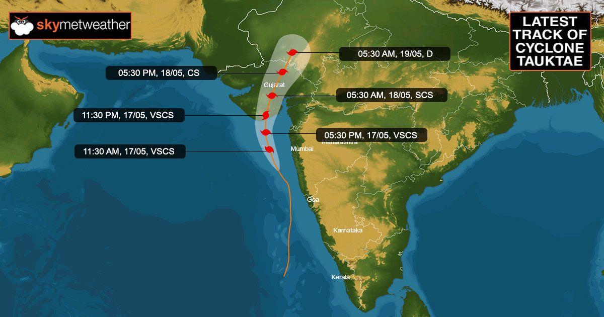 Cyclone Tauktae Latest Track
