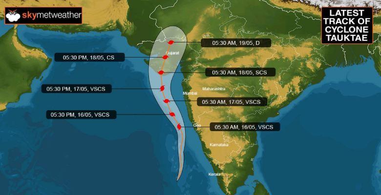 Cyclone Tauktae track