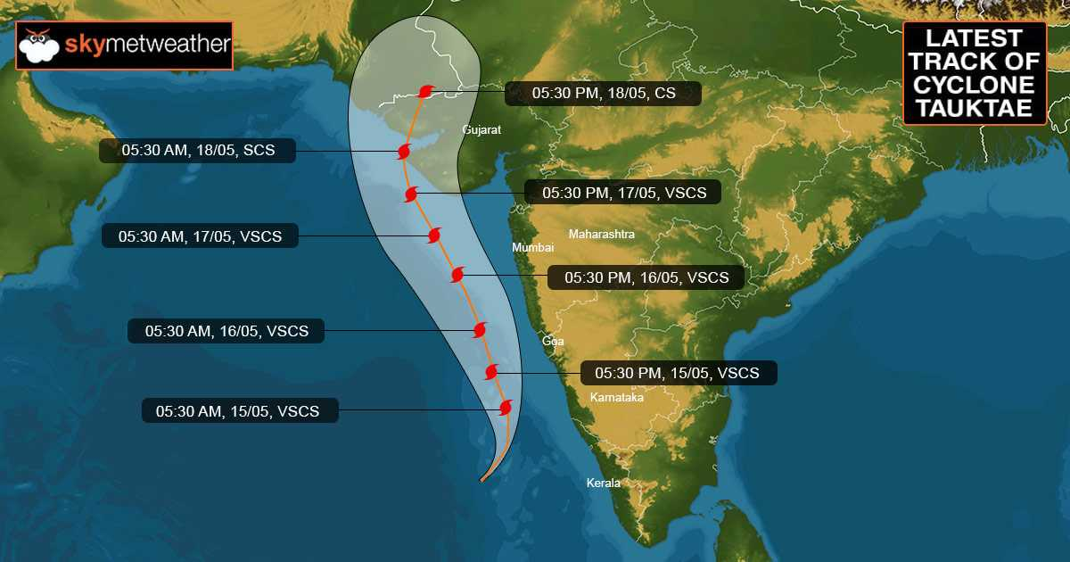 Cyclone Tauktae track latest c