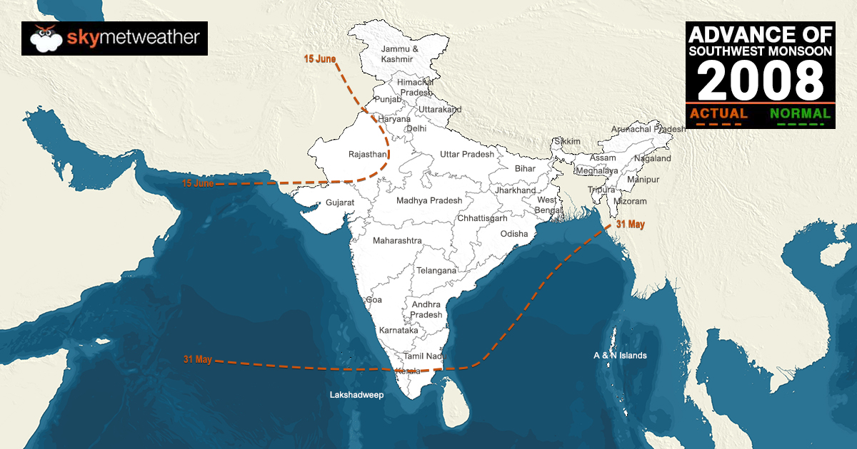 Northern Limit Of Monsoon