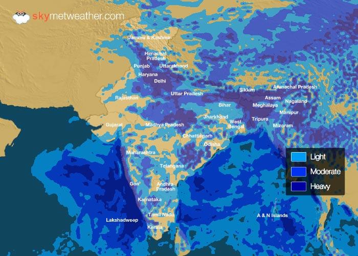 Rainfall Forecast: July 01, 2018