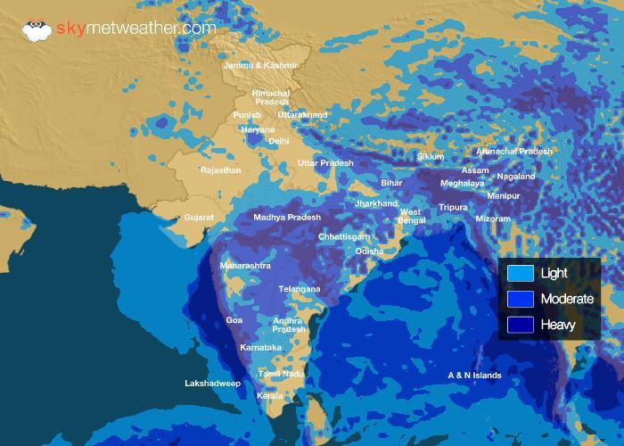 Rainfall Forecast: July 06, 2018