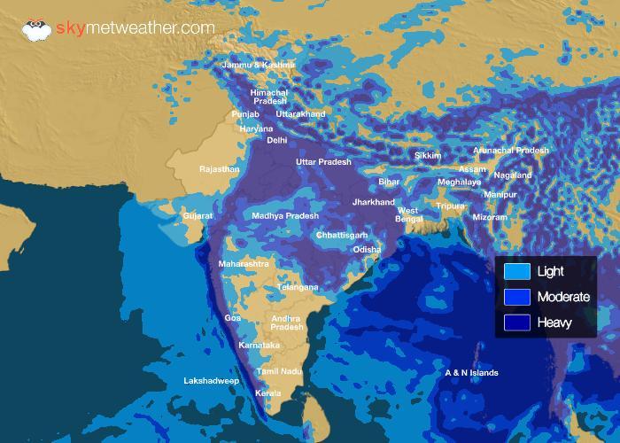 Rainfall Forecast: July 13, 2018