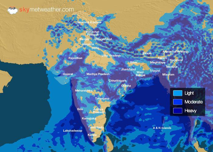 Rainfall Forecast: July 15, 2018