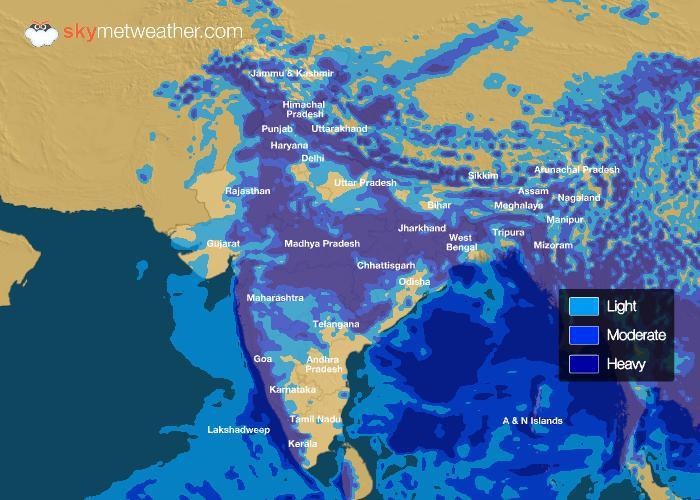Rainfall Forecast: July 17, 2018