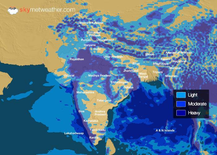 Rainfall Forecast: July 19, 2018