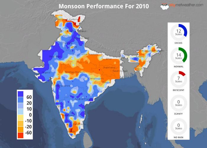 Monsoon Performance: 2010