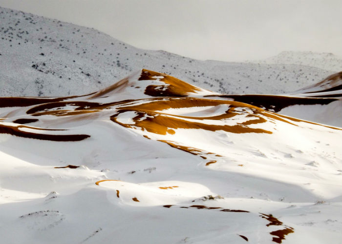 Waist deep snow