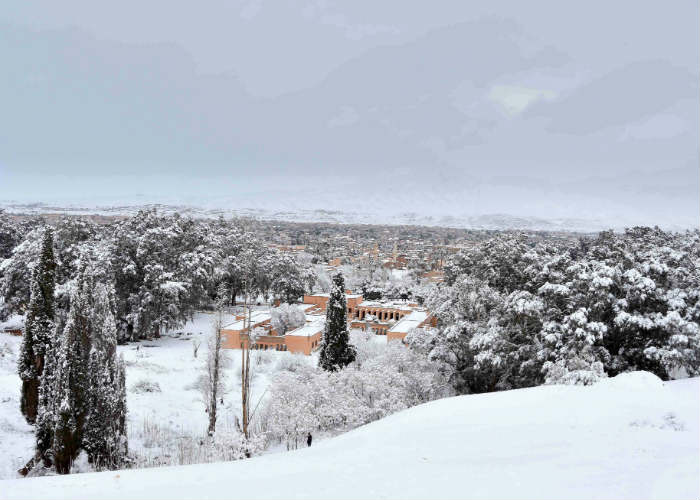 Snowfall in Algeria