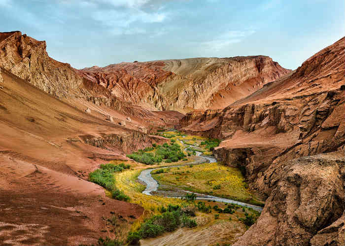 Flaming Mountains, China