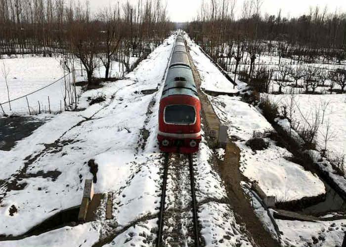 Snowy Rail Track