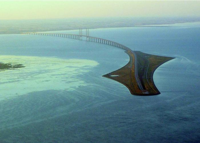 The Oresund Bridge (Bridge connecting Denmark and Sweden)