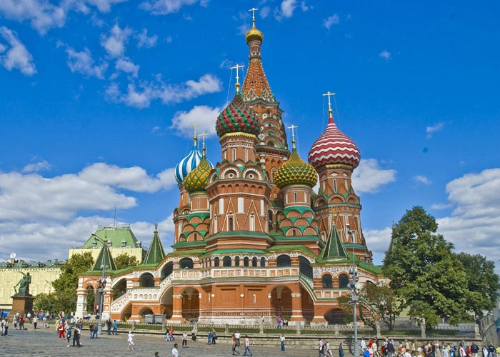 Saint Basil`s Cathedral, Russia