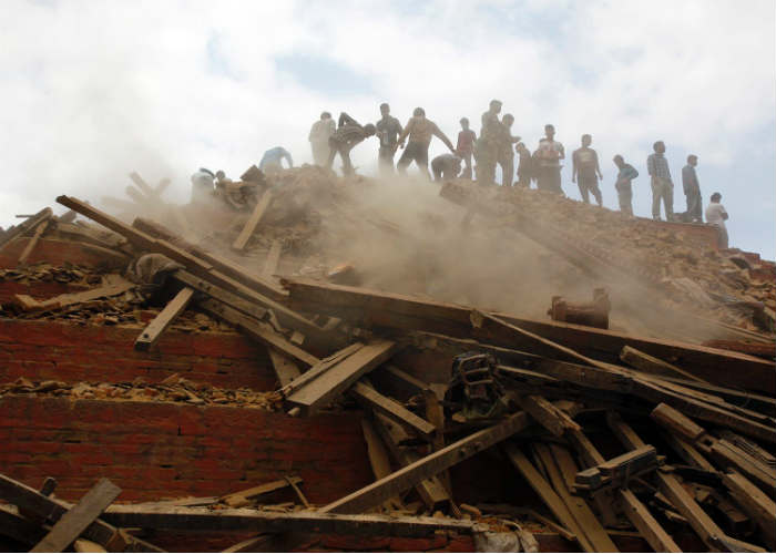 Collapsed Durbar Square
