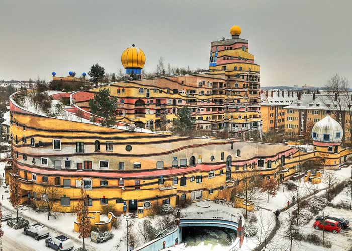 Forest Spiral Hundertwasser Building, Germany