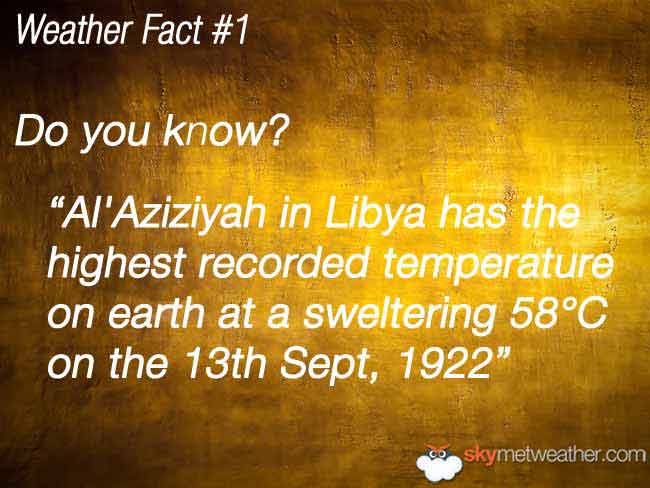 Weather Fact #1