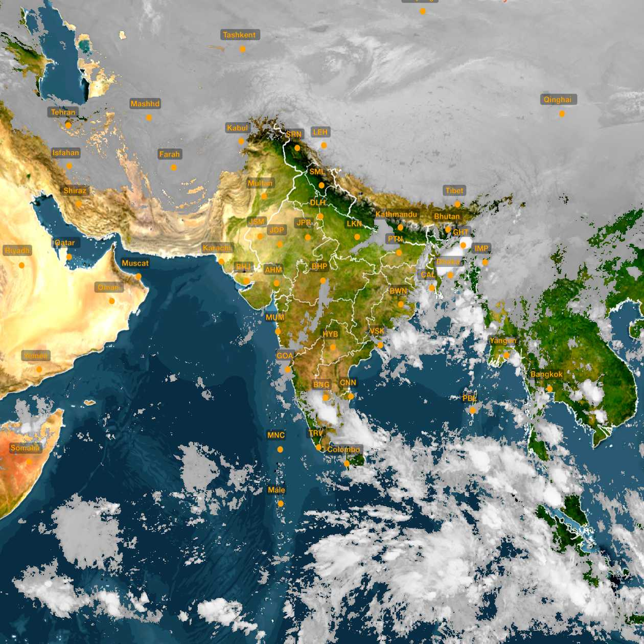 <b style='padding-left:57px;'>01:30</b><br>Satellite Images of India <br>for 31 October 2020