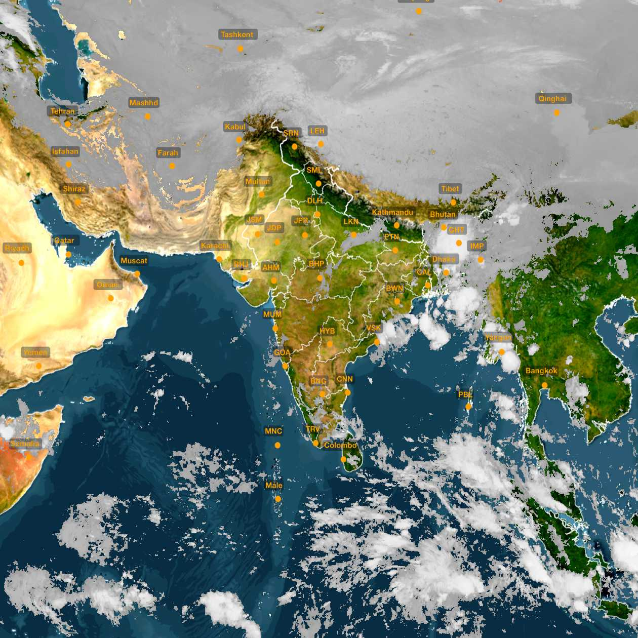 <b style='padding-left:57px;'>06:30</b><br>Satellite Images of India <br>for 31 October 2020