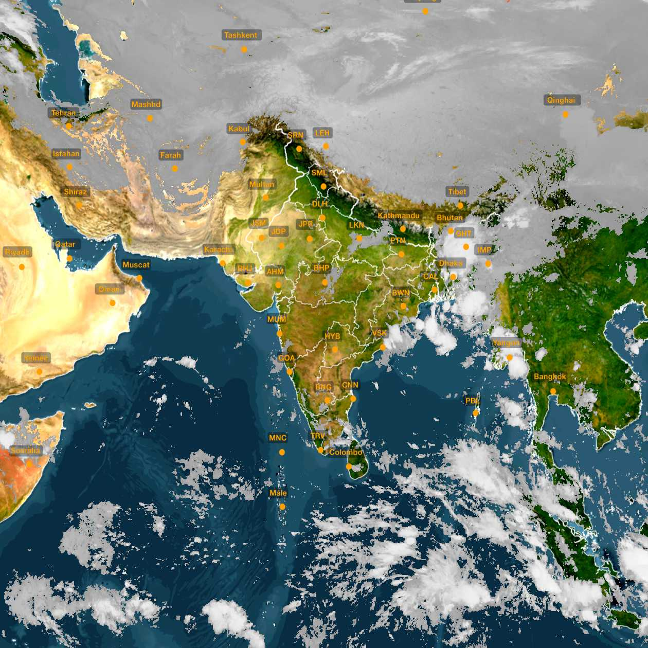 <b style='padding-left:57px;'>07:00</b><br>Satellite Images of India <br>for 31 October 2020