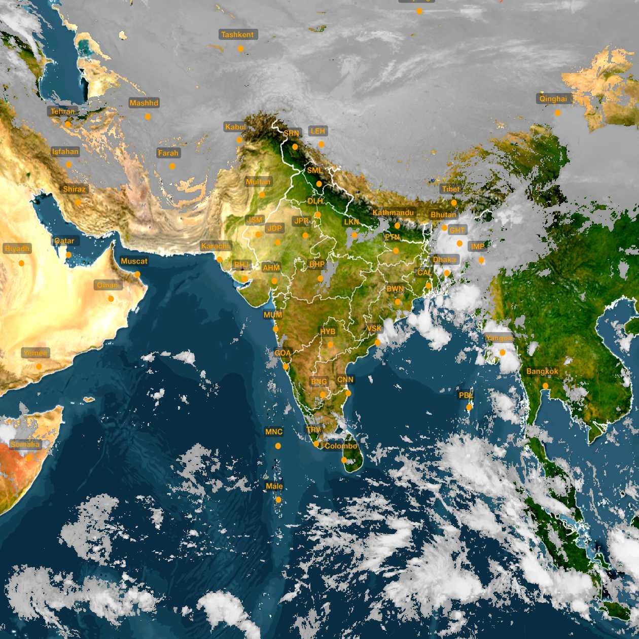 <b style='padding-left:57px;'>07:30</b><br>Satellite Images of India <br>for 31 October 2020