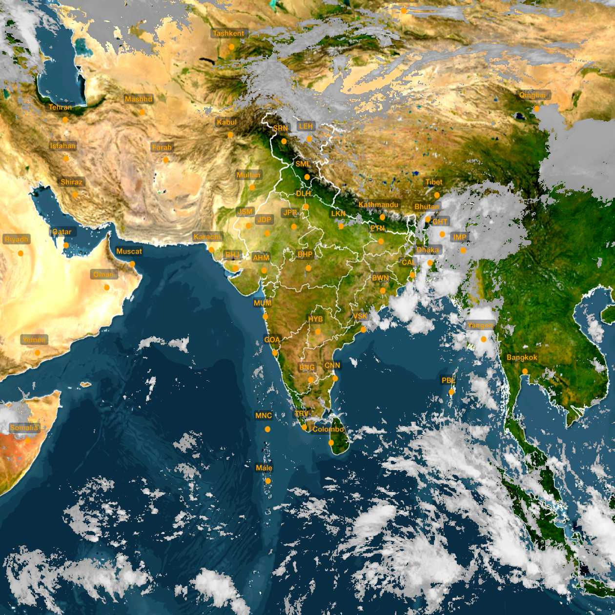 <b style='padding-left:57px;'>09:30</b><br>Satellite Images of India <br>for 31 October 2020