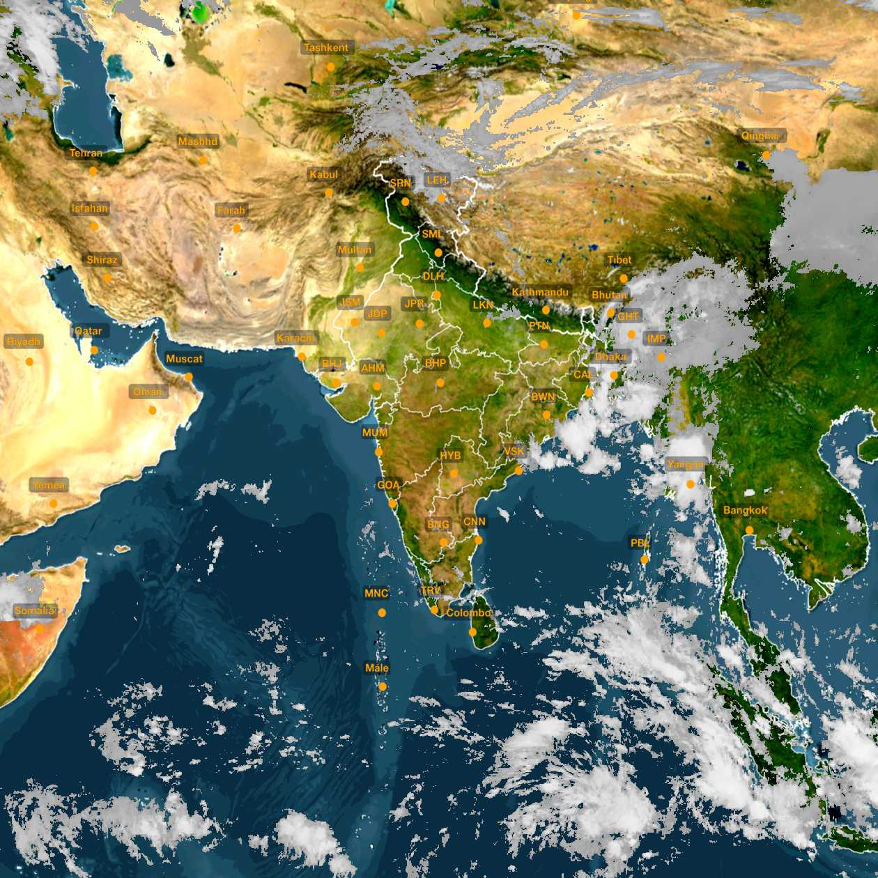 <b style='padding-left:57px;'>10:00</b><br>Satellite Images of India <br>for 31 October 2020