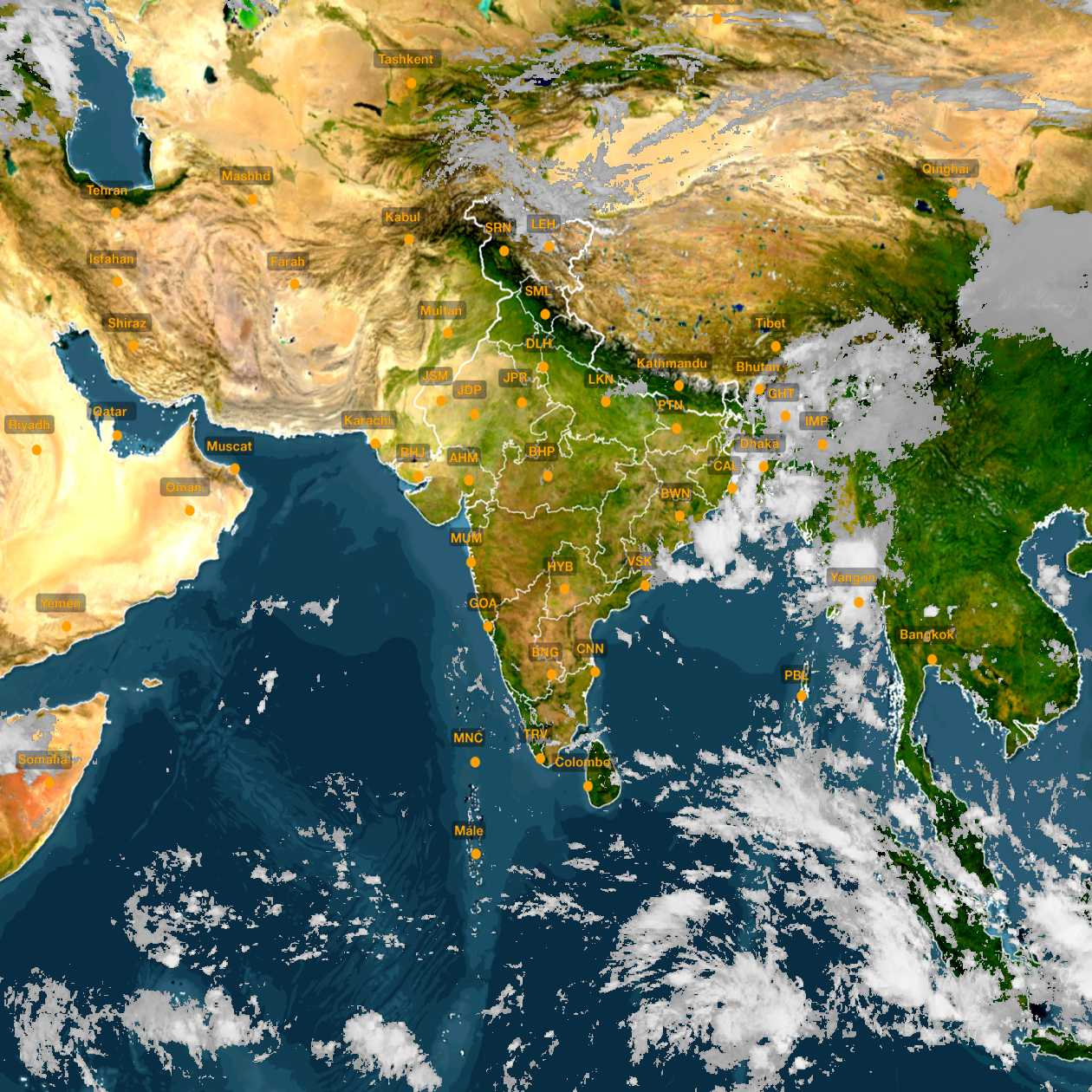 <b style='padding-left:57px;'>10:30</b><br>Satellite Images of India <br>for 31 October 2020