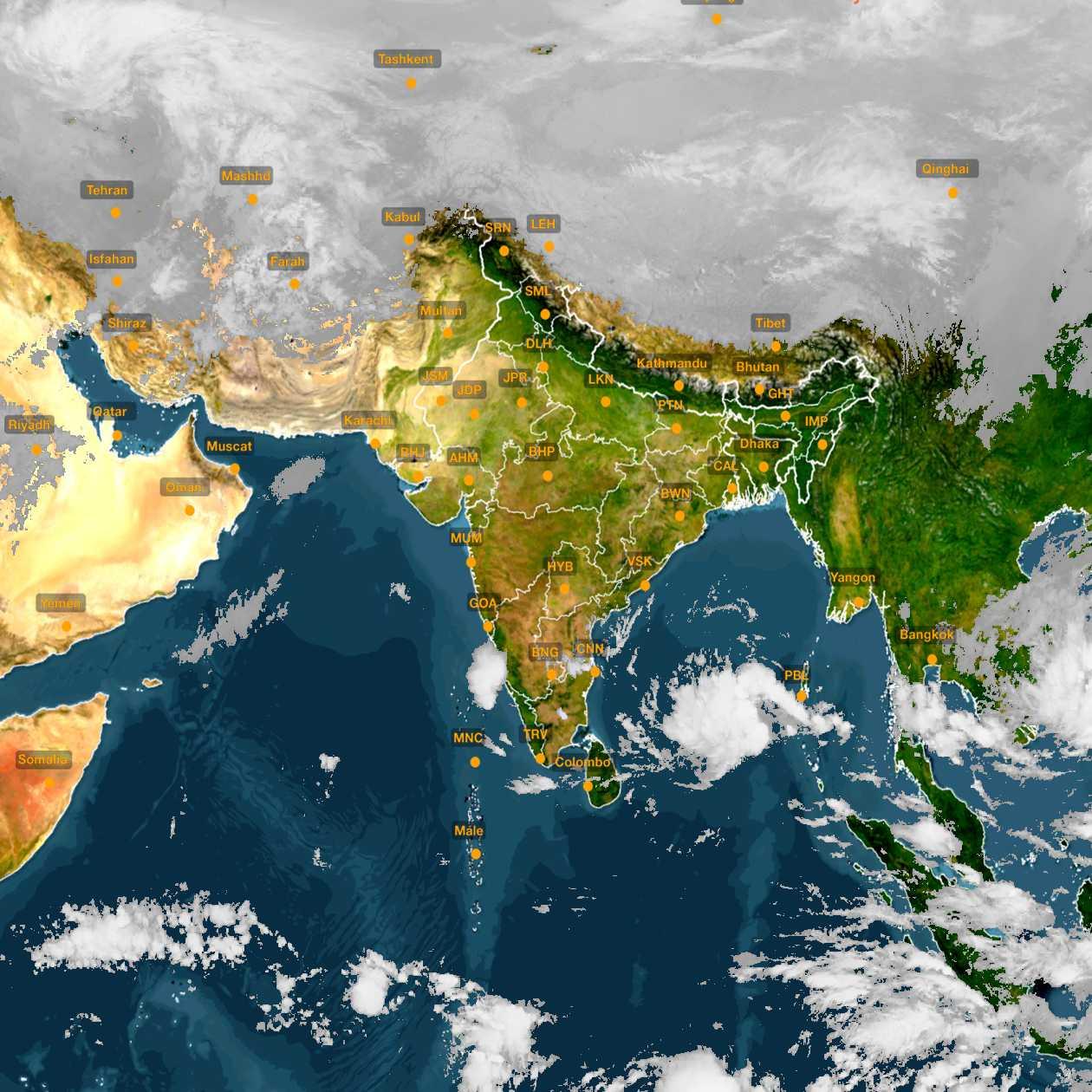 <b style='padding-left:57px;'>07:30</b><br>Satellite Images of India <br>for 30 November 2020