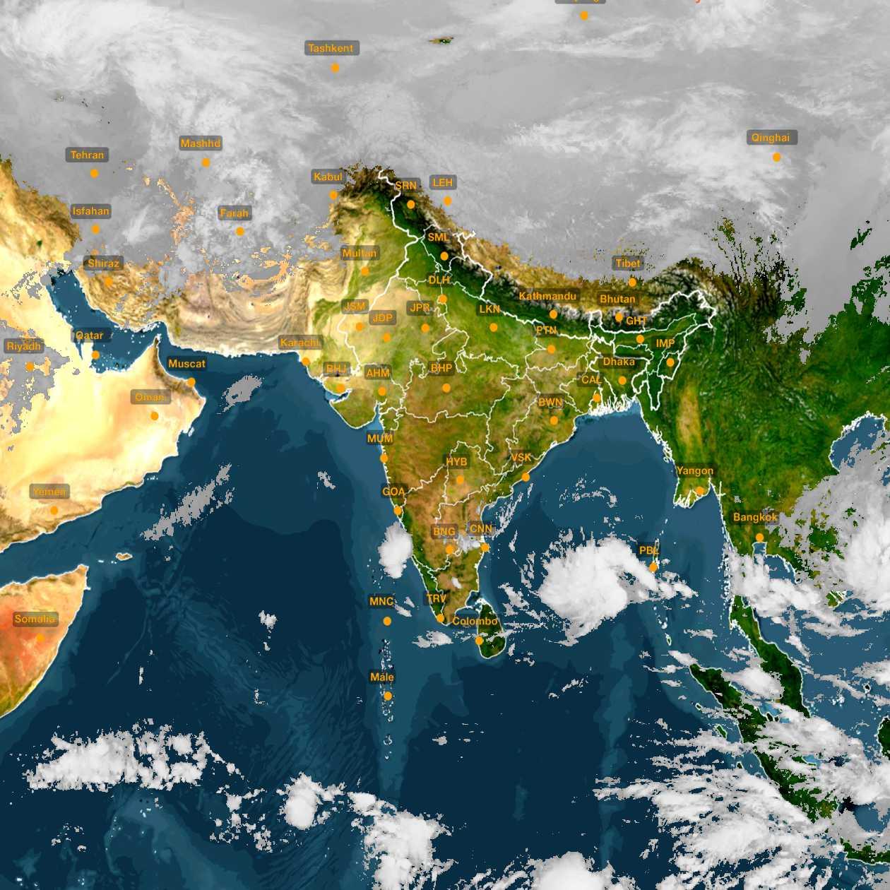 <b style='padding-left:57px;'>08:00</b><br>Satellite Images of India <br>for 30 November 2020