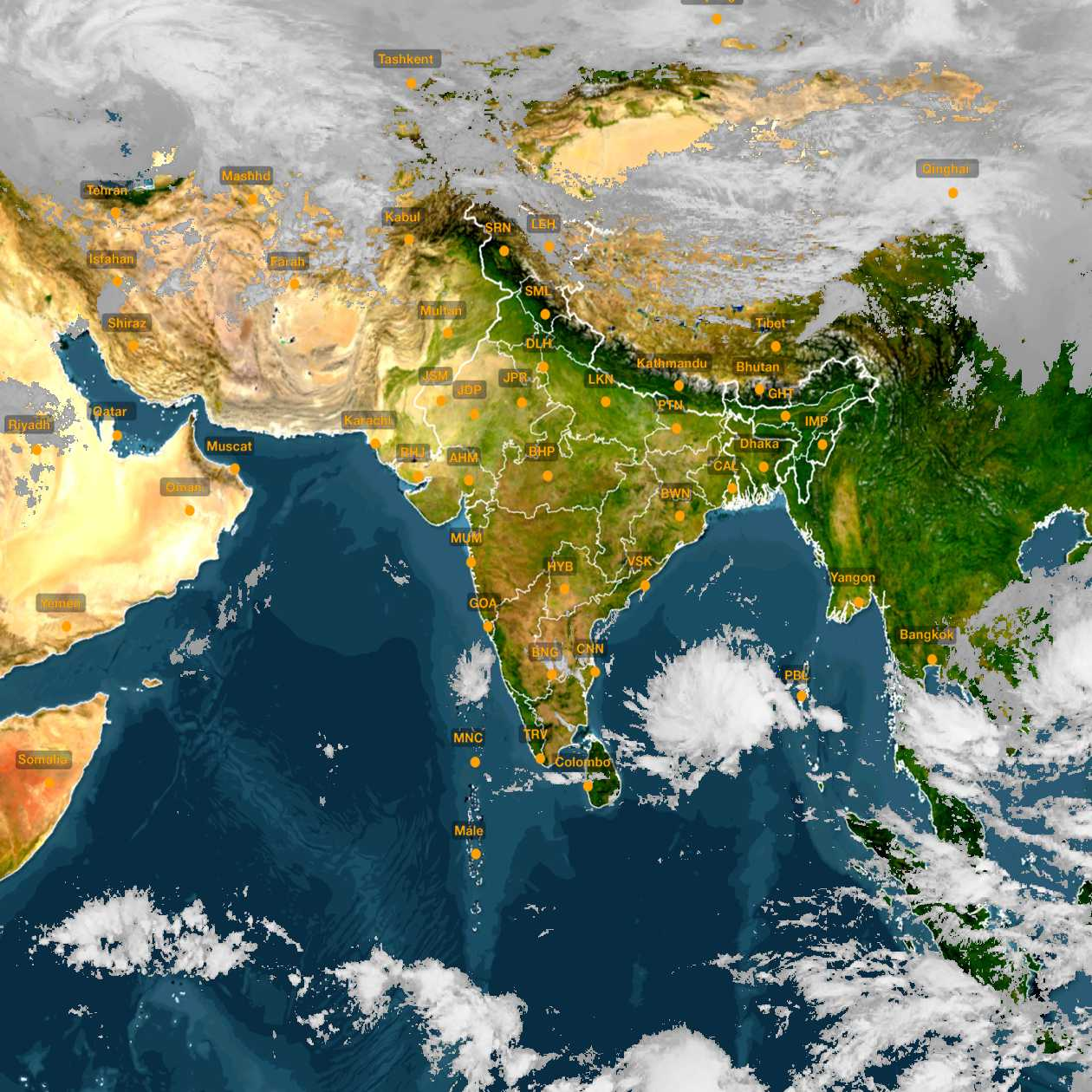 <b style='padding-left:57px;'>11:30</b><br>Satellite Images of India <br>for 30 November 2020