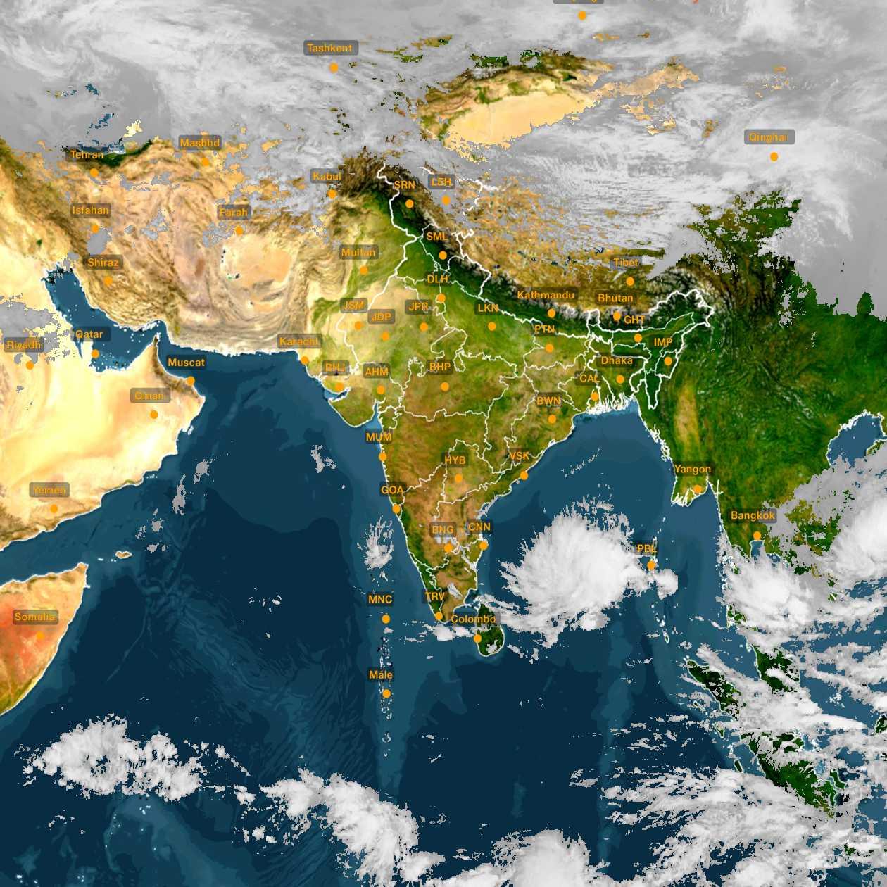 <b style='padding-left:57px;'>13:00</b><br>Satellite Images of India <br>for 30 November 2020
