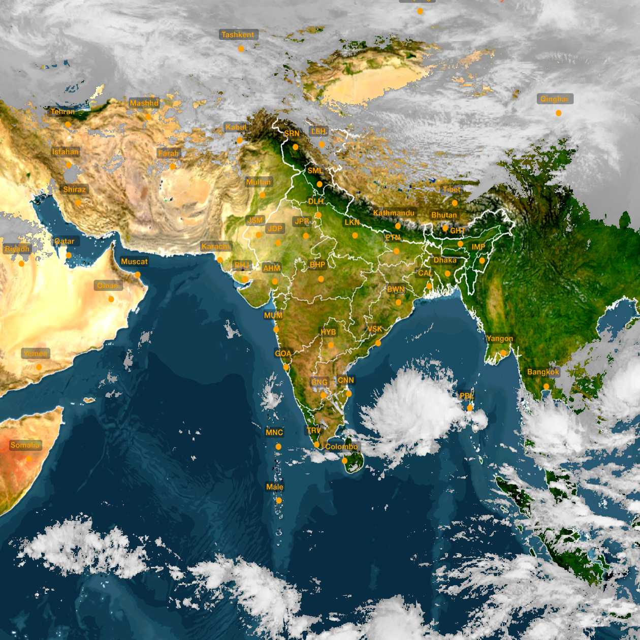 <b style='padding-left:57px;'>13:30</b><br>Satellite Images of India <br>for 30 November 2020